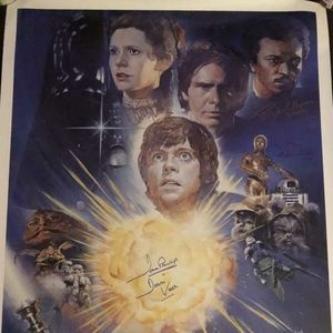 Star Wars Signed Poster